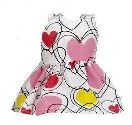 Vestido Boneca Coração Branco