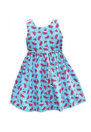 Vestido Petit Melancias Azul
