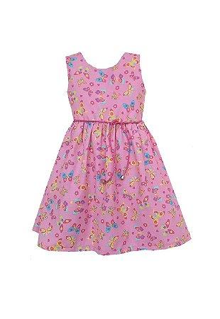 Vestido Petit Borboletas Rosa