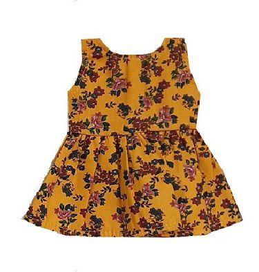 Vestido Boneca Amarelo Flores
