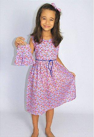 Kit Vestido Infantil e Boneca Petit Lilás