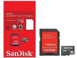 Cartão Memória Micro 4 GB SANDISK