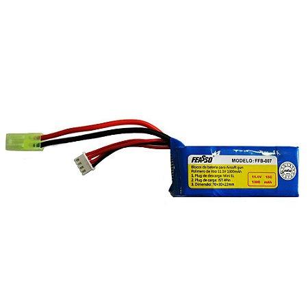 Bateria de LiPo 11.1v 1300mAh (15C) modelo Feasso FFB-007