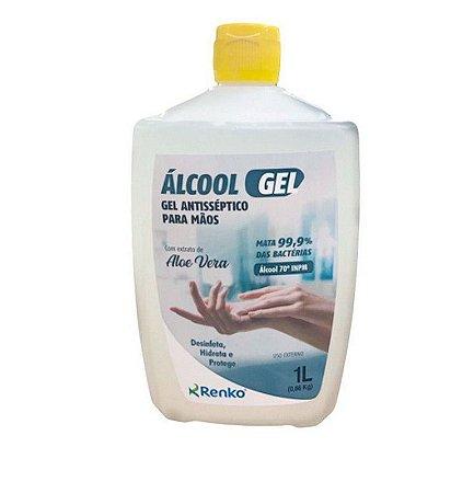 ALCOOL GEL RENKO 1L com Aloe Vera