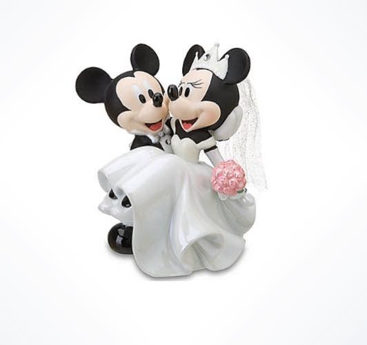 Topo de bolo Mickey e Minnie noivos casamento Disney Parks