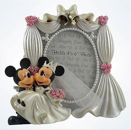 Porta Retrato Mickey e Minnie noivos / casamento Disney Parks