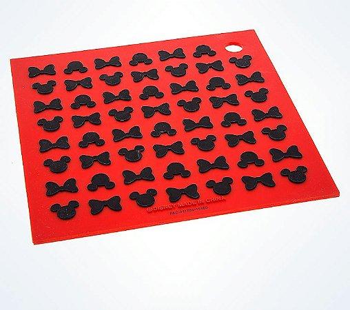 Descanso de panela de silicone Mickey e Minnie icones