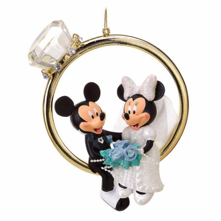 Enfeite Aliança Mickey e Minnie Noivinhos Casamento
