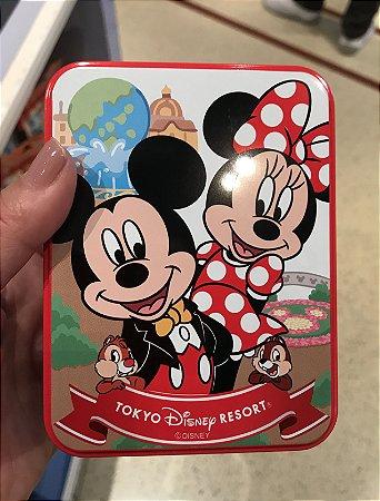Lata de bombons Mickey e Minnie