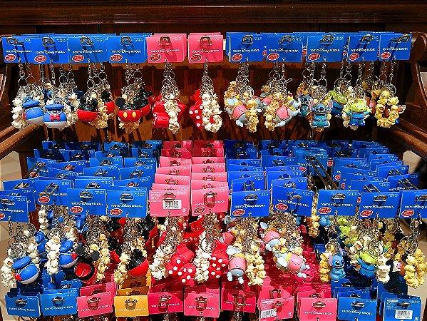 Chaveiro balde de pipoca Mickey, Et, Pato Donald, Dumbo, Stitch, Sr Cabeça de Batata ou Minnie