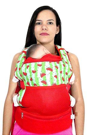 Daju Chila - Mochila de Bebê Ergonômica - Melância