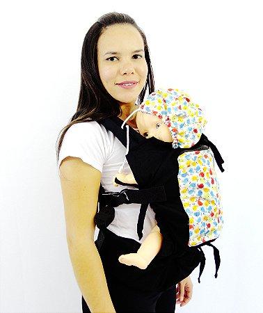 Daju Chila Ajustável - Mochila Evolutiva - Passarinhos