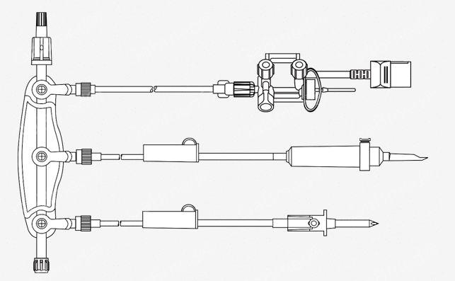 Kit para Angiografia Manifold ON com Transdutor - HD Gabmed