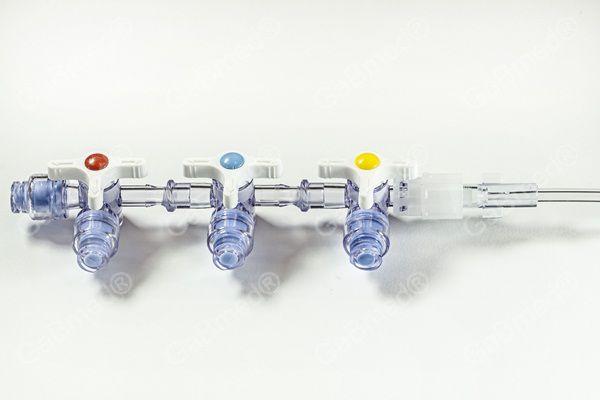 Extensor 12 Fr x 20 cm com 3 Torneiras Valvuladas - GB Gabmed