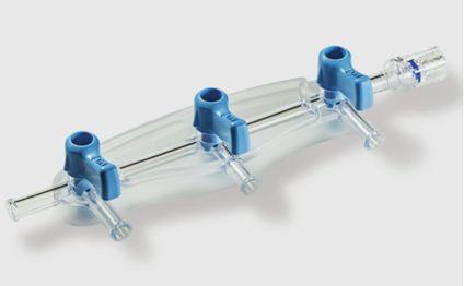 Manifold - Distribuidor 3 Torneiras 500 psi ON para Hemodinâmica - HD Gabmed