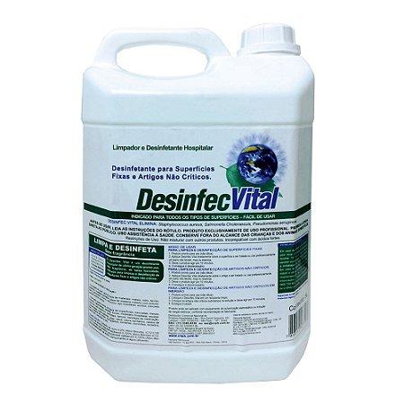 Desinfec Vital 5 Litros Desinfetante Hospitalar Pronto Uso