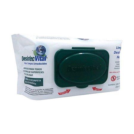 Desinfec Vital Wipes - Lenços Umedecidos 100 unidades