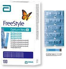 Tiras de Glicemia Embaladas individualmente FreeStyle Optium Neo H Abbott