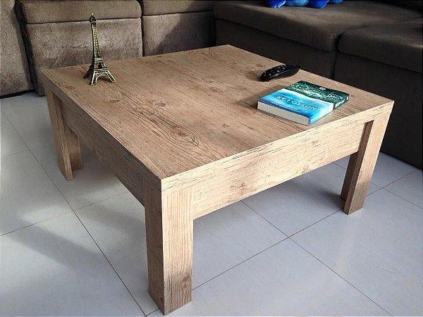 Mesa de centro rustica mdf com lamina o rustica - Centro de mesa rustico ...