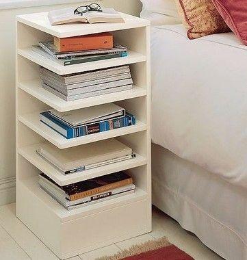 Criado Mudo Literário - Organize Seus Livros! - Em Madeira