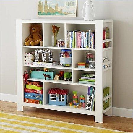 Organizador de brinquedos e Livros para quarto infantil - O que faltava no quarto das crianças! - Em Madeira