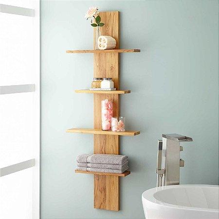 Prateleira vertical para banheiro ou cozinha - Opção de cores - 100% MDF