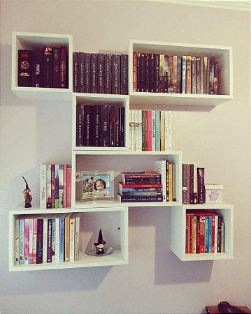 Biblioteca Suspensa em Nichos - Organize seus Livros!