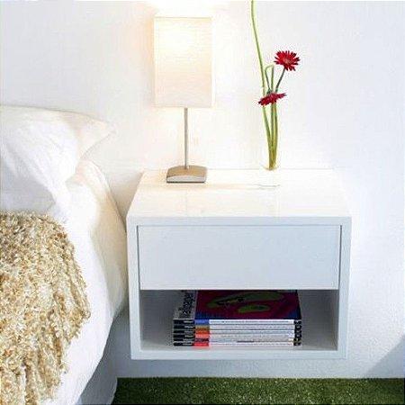 criado mudo suspenso com gaveta 100 mdf 18mm escolha sua cor nichos decora es. Black Bedroom Furniture Sets. Home Design Ideas