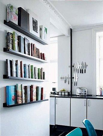 Prateleira de madeira para livros - 100% MDF - Opções de cores