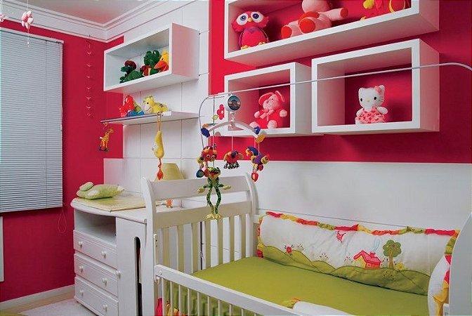 Nichos para quarto de bebê - Conjunto de 3 peças - 100% MDF