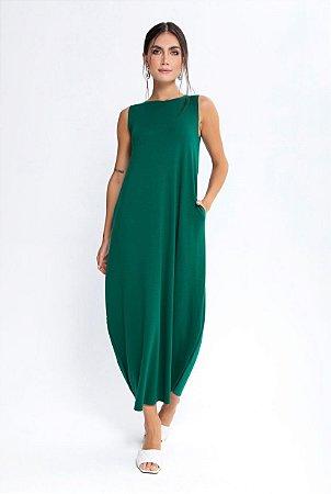 Vestido Midi Verde   Ponto Roma