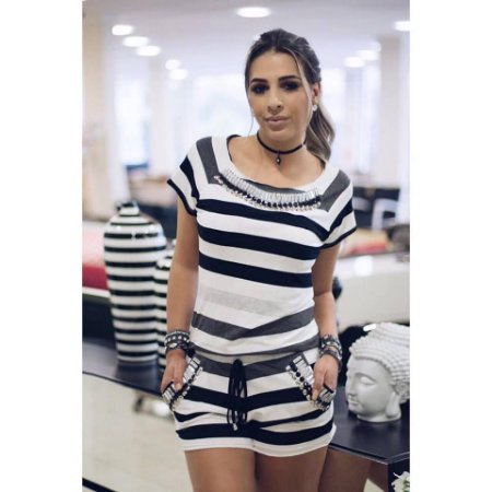 Conjunto Listrado { Stripes } Bordado