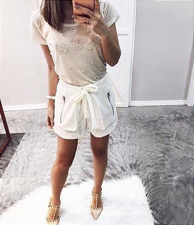 T-shirt Pérolas || Off White – Petit Rosè