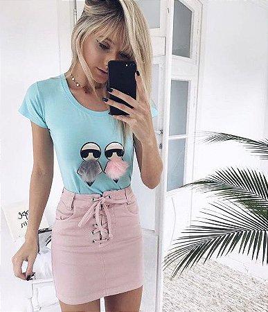 T-shirt Karlito Azul | Petit Rosè