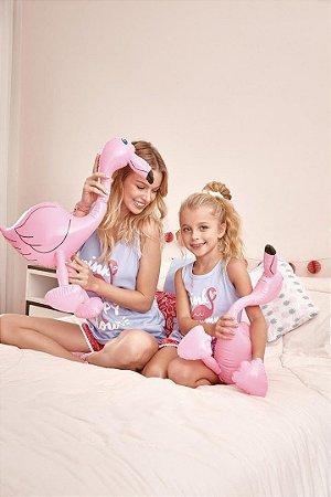 Short Doll | Pijama Regata - Flamingo [ PINK Is My Happy Colour ] Pompom