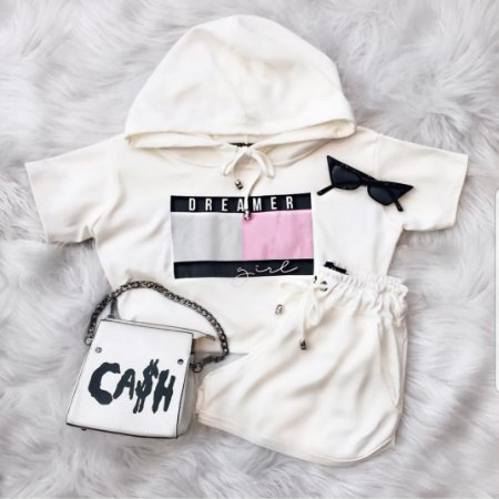 Conjunto Dreamer Girl Off White | Petit Rosè