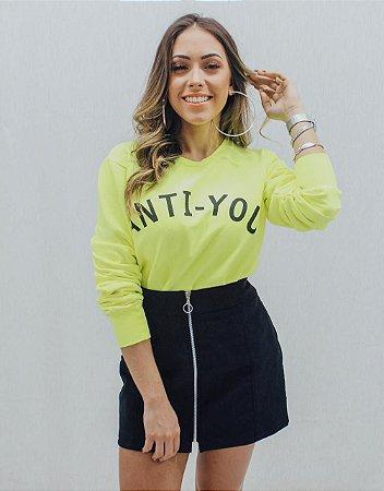 Moletom Anti-You | Amarelo Neon
