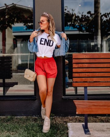 T-shirt END Branca  - In Love