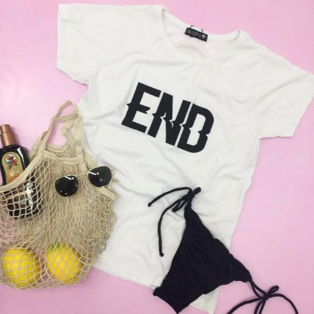 T-shirt END Branca  - In Love