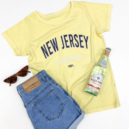 T-shit New Jersey - Candy Color: Amarelo - In Love
