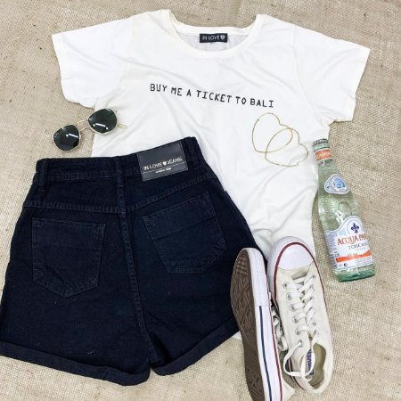 T-shirt Buy me a ticket to Bali | Cor: Off White - In Love