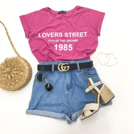 T-shirt Lovers Street | Cor: Rosa - In Love