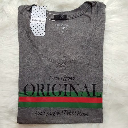 T-shirt Original - Cinza | Petit Rosè
