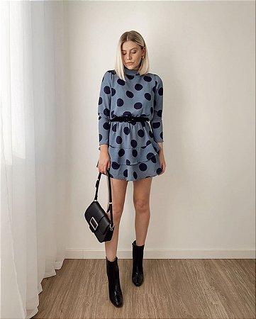 Vestido Poá Azul | In Love