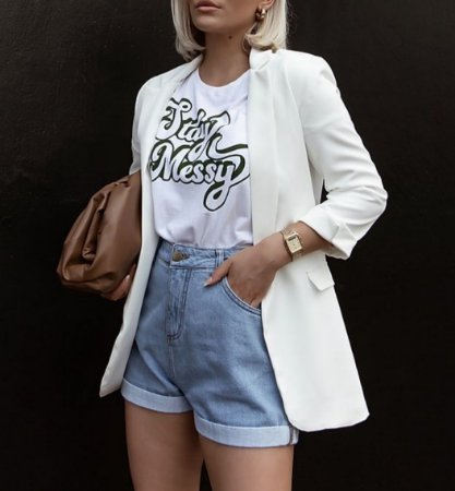 T-shirt Stay Messy   Cor: Branca