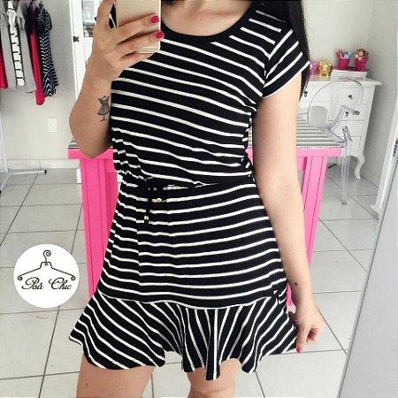 Vestido Stripes   Listras [ Preto & Branco ]
