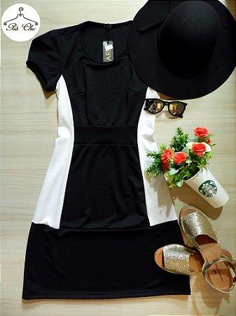 Vestido Clássico Bicolor | Preto & Branco