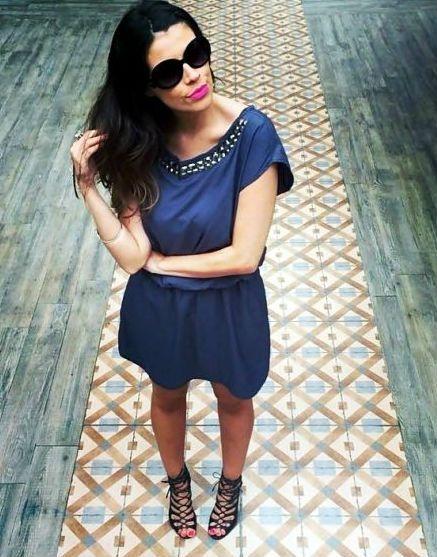Vestido Cinza || Bordado