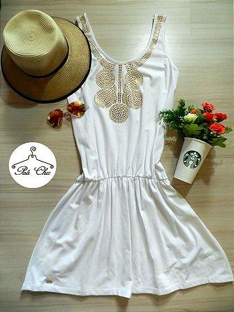 Vestido Off White - Maxi Colar / Blessed