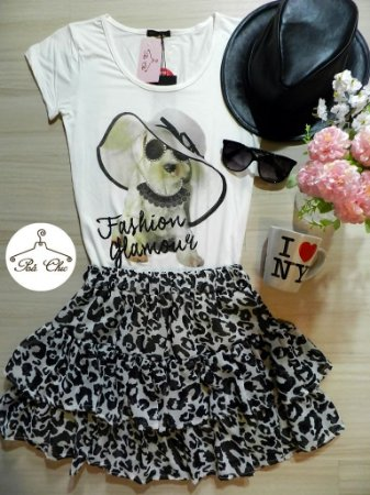 T-shirt Dog [ Fashion Glamour ] Off White | Petit Rosè